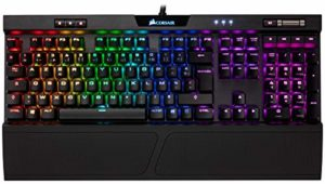 Corsair K70 RGB MK.2 Clavier Mécanique Gaming (Cherry MX Red: Lisse et rapide, Rétro-Éclairage RGB Multicolore, AZERTY FR Layout) – Noir