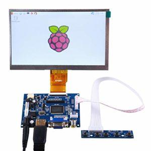 GeeekPi 7 Pouces 1024 x 600 écran HDMI écran LCD Display avec Driver Board pour Raspberry Pi