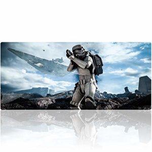 Large Tapis de Souris Gaming, Beyme XXL 900 x 400mm Grand Tapis Souris Gamer Avec Texture de Qualité Supérieure Mouse Pad (90×40 star wars013)