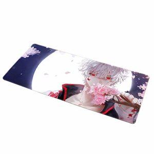 NBPRO Tapis de Souris de Jeu Bord de Verrouillage de Vitesse Grand Tapis de Souris de Bureau de Jeu imperméable en Caoutchouc Naturel Anime Mouse Pad pour Les Fans De Gintama-7