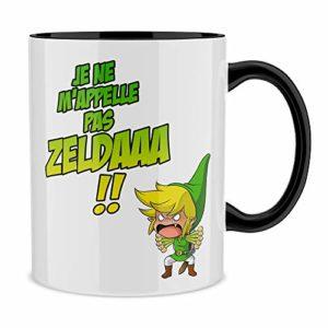 Okiwoki Mug Noir Zelda parodique Link : Un Coup de Gueule de héros. (Parodie Zelda)