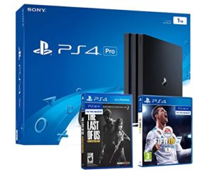 PS4 Pro 1To Playstation 4 Pack 2 Jeux: FIFA 18 + The Last of Us Remastered HD