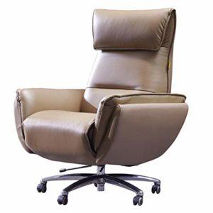 YUYAXAF Stable Chaise de Bureau Fauteuil de Bureau Racing Chaise de Gamer Professionnel Siège de Bureau Fauteuil de Gaming Ergonomique Dossier Haut Inclinable en Similicuir Confortable, Brown