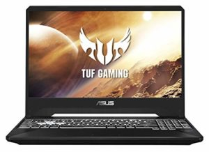 ASUS TUF505DT-AL087T PC Portable Gaming 15.6 » (AMD R5-3550H, RAM 8Go DDR4, 512Go PCIe SSD, Optimus NVIDIA GeForce GTX 1650 4Go, Windows 10) Clavier AZERTY Français