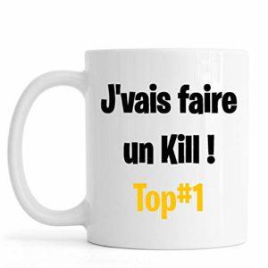 Sublimagecreations mug Inspiration Jeu vidéo, Game, Top #1, idée Cadeau Geek (Mug Classique, J'vais Faire Un Kill (Noir))