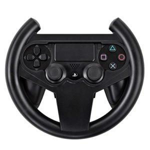 TNP Volant de Course pour PS4, pr Sony Playstation 4 PS4 Noire [Playstation 4] Manette de Jeu Joypad Contrôleur d'Adhérence, Simulator, Volant, Accessoires Jeu