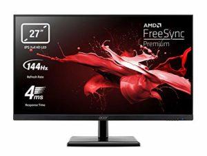 Acer EG270Pbipx Moniteur Gaming FreeSync Premium 27″, écran IPS FHD, 144 Hz, 4 ms, 16:9, HDMI 2.0, DP 1.2, Lum 250 CD/m2, Audio Out, ZeroFrame, câbles HDMI Inclus