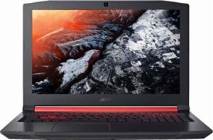 Acer Nitro 5 Ordinateur Portable Gamer, Intel Core i5-8300H, GeForce GTX 1050Ti, 15.6″ Full HD, 8GB DDR4, 256GB SSD, Clavier QWERTY Anglais