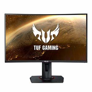 ASUS TUF Gaming VG27WQ – Ecran PC Gamer eSport 27″ WQHD – Dalle VA incurvée – 165Hz – 1ms – 16:9 – 2560×1440 – 400cd/m² – Display Port & 2x HDMI – FreeSync Premium – Extreme Low Motion Blur – HDR 400