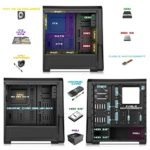 EMPIRE GAMING – Boitier PC Gamer WareFare Noir – 3 Ventilateurs LED Rouge 120 mm – Paroi teinté et Transparent – Compatible ATX/mATX/mITX