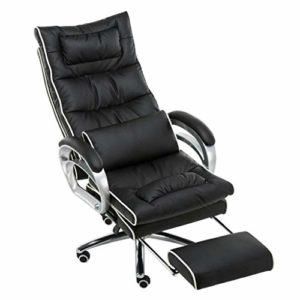 GUOOK Mobilier conçu Chaise de Jeu de Massage Chaise de Bureau pivotante Rembourrage en Similicuir en Couleur Noir + Blanc Chaise de Bureau d'ordinateur
