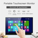 JDLP 15,6 Pouces Écran Tactile Portable 4K UHD IPS Gaming USB Monitor-C/Thunderbolt 3
