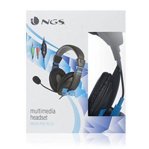 NGS MSX9PROBLUE Casque Audio pour Vidéo conférence/Musique/Jeux Bleu/Noir