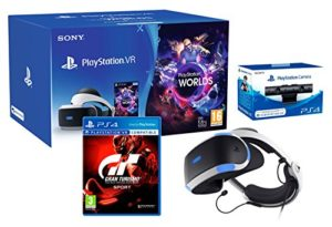 PlayStation VR2 (CUH-ZVR2) GT Sport Pack + VR Worlds + PS4 Cámera VR