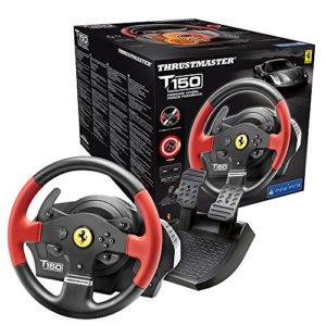 Thrustmaster – Volant T150 Ferrari Force Feedback – Volant 1080° avec Retour de Force – PS4/PS3/PC