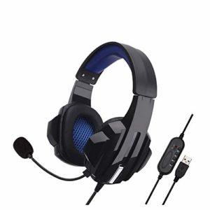 YYZLG Écouteurs pour ordinateur de jeu, casques de jeux Internet Cafe Gaming Casques en protéines douces