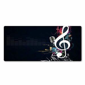 ZHANGSBD Tapis de Souris Gaming Tapis de Souris Belles Notes de Musique Gamer Tapis de Souris XXL 900x400mm Grand Tapis de Bureau Clavier d'ordinateur Jeu Tapis de Jeu Tapis de Souris de Jeu avec des