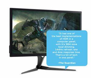 Acer Predator X27P Moniteur Gaming G-Sync Ultimate de 27″, écran 4K Ultra HD (3840×2160), 144 Hz, 16:9, 600 (1000 Peak) CD/m2, 4ms (G2G), HDMI, DP, USB 3.0, Haut-parleurs intégrés, réglage en Hauteur