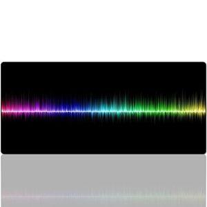 Arc en ciel Tapis de Souris Gaming, Beyme XXL ( 900×400 mm ) Rainbow Mouse pad Grand Tapis de Souris Gamer avec Base en Caoutchouc Anti-glissant Surface Texturée (90×40 Rainbow)