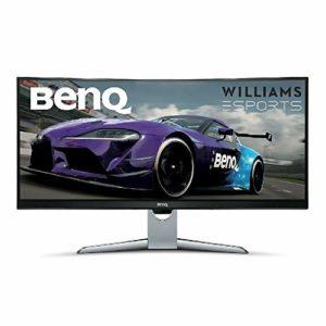 BenQ EX3501R écran Gaming incurvé de 35 pouces, WQHD 3440 x 1440, 100Hz, HDR, 21:9, FreeSync, 1800R, HDMI, Display Port, USBC