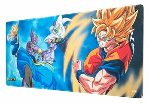 Erik® – Tapis de Souris Gaming XL Dragon Ball Super – Sous-Main Antidérapant – 80 x 35 cm