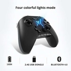 Flydigi‿Apex Manette sans Fil, Joystick compétitif avec éclairage RVB à Spectre Complet, Plateforme Compatible avec téléphone Android, Tablette, TV Box, PC (Noir)