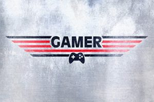 Gaming Papier Peint Photo/Poster Autocollant – Gamer (180 x 120 cm)