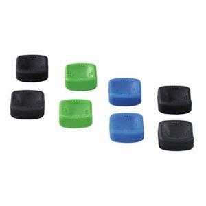 Hama Set de protections de joysticks 8 en 1 pr PS4/Xbox One, noir/vert/Bleu