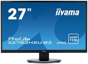 Iiyama Prolite X2783HSUB3 Ecran LED 27″ AMVA Full HD 4 ms VGA/DP/HDMI Hub USB Multimedia Noir