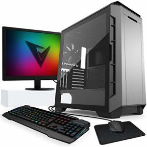 'VIBOX Legend Paquet 36Gaming PC avec jeu War Thunder, 27HD Moniteur, 4.4GHz Intel i7Quad Core Processeur, 2x Nvidia Geforce GTX 980Ti SLI Carte graphique, Disque dur 500Go SSD, 3TB, 32Go RAM, noir