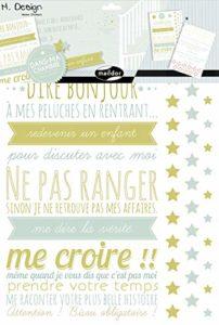 Maildor AD021O – Un sachet M Design 2 planches stickers muraux 49×69 cm, Règles d'enfant