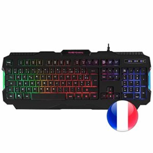 Mars gaming MRK0, Clavier Gaming Antighosting, RGB Rainbow, Layout Français