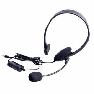 OSTENT Casque filaire casque écouteur microphone compatible pour Sony PlayStation 4 PS4 jeu