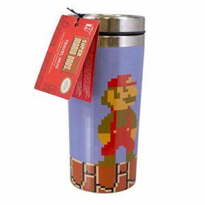 Paladone PP5017NN Super Mario Mug de Voyage réutilisable Bouteille Isotherme pour café et thé Facile à Nettoyer Garde Les Boissons Chaudes Capacité 450 ML