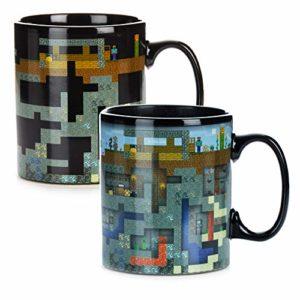 Paladone PP6585MCF Minecraft Coffee Mug XL à changement de chaleur 550 ml en céramique