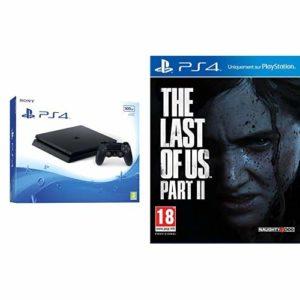 PS4 500 Go Noire + The Last of Us Part II