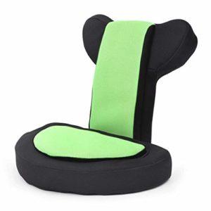 QLL Jeux Vidéos Canapé Mesh Chaises De Jeu pour Adultes Enfants – Rembourré Mousse Mémoire Dos Lombaire Assistance – 14 Angle Réglable Chaise Plancher Chaise de Maison (Color : Green Color)