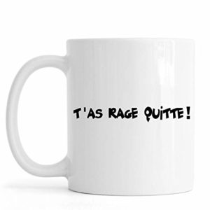 Sublimagecreations Mug Geek Inspiration Jeu vidéo ! idée Cadeau Fan de Jeu vidéo (Mug Classique, Rage quitte)