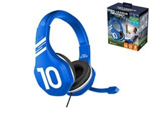 Subsonic – Casque Gaming avec micro pour Playstation 4 – PS4 Slim – PS4 Pro – Xbox One – PC – Edition Football 2018 Bleu