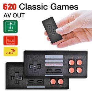 Suszian Mini Console de Jeu vidéo intégrée 620 Game Box avec Double contrôleur de Manette de Jeu TV Home Game Console