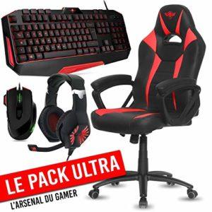 Ultra Pack Gamer Siège Fighter + Clavier, Souris, Casque et Tapis Spirit of Gamer