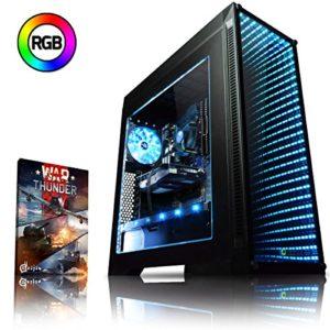 VIBOX Genesis GL350T-7 PC Gamer Ordinateur avec Jeu Bundle (4,0GHz Intel i3 Quad-Core Processeur, Nvidia GeForce GTX 1050 Ti Carte Graphique, 8GB DDR4 RAM, 1TB HDD, sans Système d'Exploitation)