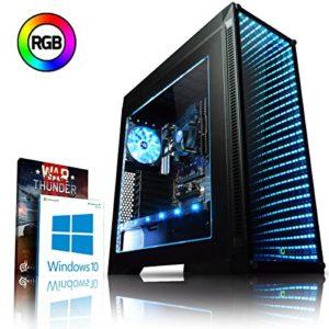 VIBOX Genesis S524-8 PC Gamer Ordinateur avec War Thunder Jeu Bundle, Windows 10 OS (3,9GHz AMD Ryzen Quad-Core Processeur, Graphiques Radeon Vega Intégrés, 8GB DDR4 2133MHz RAM, 1TB HDD)