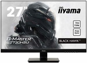 Iiyama GMaster Black Hawk G2730HSUB1 Moniteur Gaming 27″ Ful HD 1 ms Freesync 75 Hz VGA/DP/HDMI Hub USB Multimédia Châssis Slim Noir