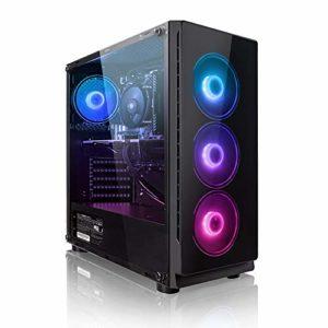 Megaport High End PC Gamer Intel Core i7-8700 6x 4,60 Ghz Turbo • Nvidia GeForce GTX1050Ti • 16Go DDR4 • 1To • Windows 10 • WiFi Unité centrale ordinateur de bureau pc gaming pc pas cher ordinateur gamer