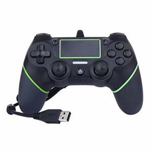 MOLUO Manette Contrôleur USB Filaire contrôleur de Jeu Sony Playstation 4 Joypad Noir Manette de Jeu d'ordinateur Gamer Gamepad Controller Poignée Jeu (Color : Green Black)