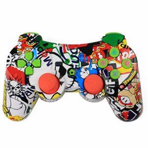 Pigup Bluetooth sans fil contrôleur de jeu sans fil joystick manette de jeu pour PS3 jeu vidéo joystick couleur