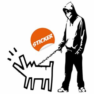 Banksy Choisissez votre arme vinyle Wall Sticker chien Pack art critique hit Teen Decor adolescent Gamer wepon sticker garçon Walking Stickers