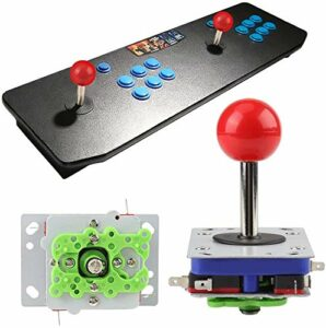 HEEPDD Arcade Joystick, Classique 2/4/8 Manière De Jeu Joystick Ball Réglable Style De Compétition À Longue Manette Joystick pour Arcade Gaming Cabinet Bouton Kit