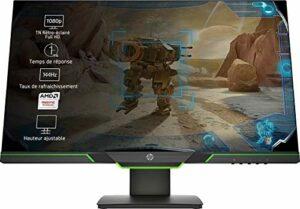 HP 27xq Ecran PC Gamer QHD 27″ Noir (TN, HDMI, 2560×1440, 16:9, 144 Hz, 1 ms, AMD FreeSync)